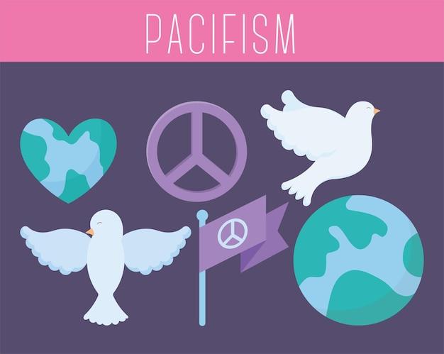 Zes pacifistische iconen
