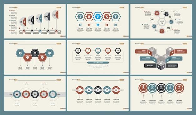 Zes production slide templates set