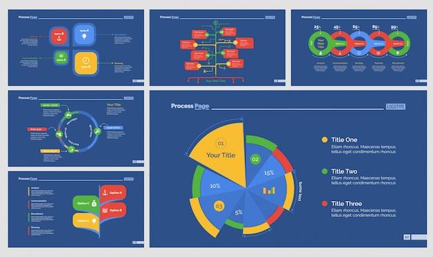 Zes strategie presentatie templates set