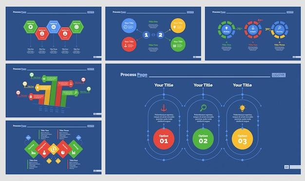 Zes strategiediagrammen slide templates set