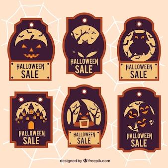 Zes vouchers voor halloween