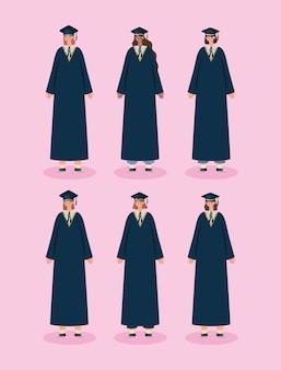 Zes vrouwen afgestudeerd