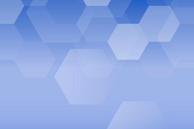 Zeshoek blauwe achtergrond