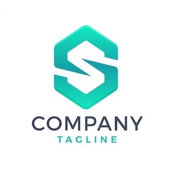 Zeshoek brief s logo