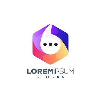 Zeshoek chat-logo