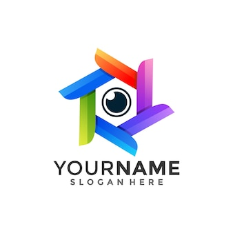 Zeshoek en oog, combinatie logo met stijl