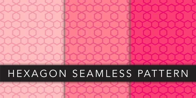 Zeshoek geometrische naadloze patroon vector sjabloon