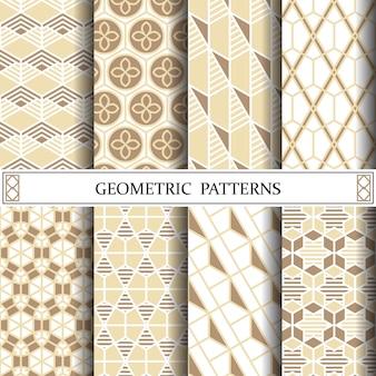 Zeshoek geometrische vector patroon