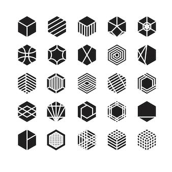 Zeshoek geometrische vector pictogram