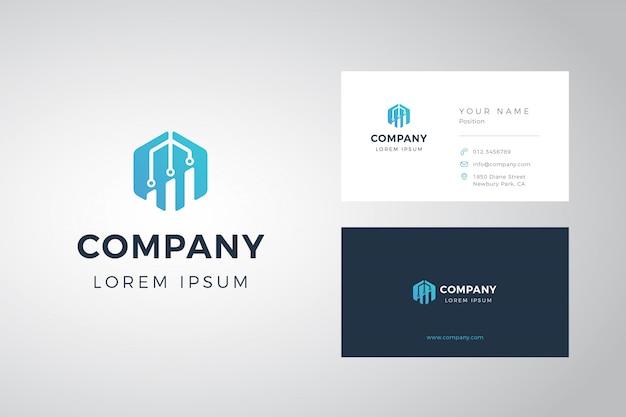 Zeshoek grafiek logo en visitekaartje