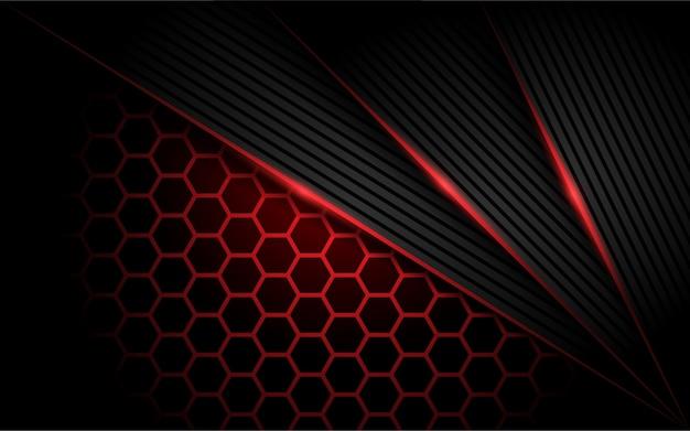 Zeshoek moderne rode achtergrond