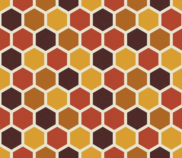 Zeshoek naadloze patroon retro stijl