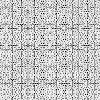 Zeshoek patroon naadloos zwart en wit