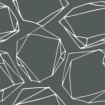 Zeshoeken en lijnen abstracte geometrische vormen naadloze patroon. eigentijdse achtergrond of print. inpakpapier of wenskaart voor minimalistisch. herhalende vormen en vierkanten. vector in vlakke stijl
