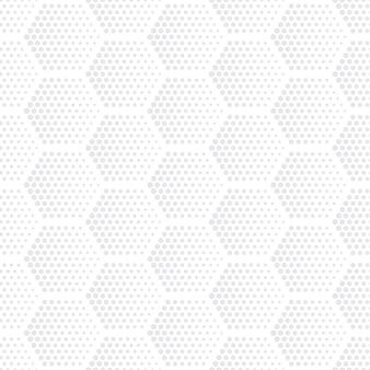 Zeshoeken halftoon naadloos patroon