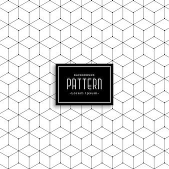 Zeshoekig geometrisch lijnpatroon ontwerp