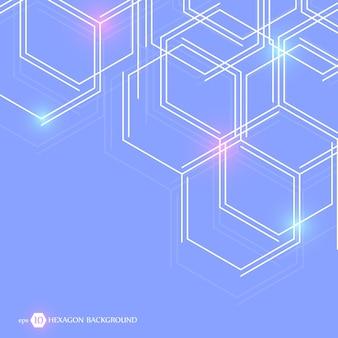 Zeshoekige geometrische achtergrond. zakelijke presentatie voor uw ontwerp en tekst. minimaal grafisch concept. eps 10 voorraad vectorillustratie.