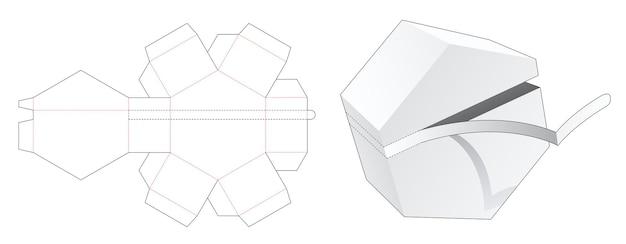 Zeshoekige verpakking met gestanste sjabloon met ritssluiting