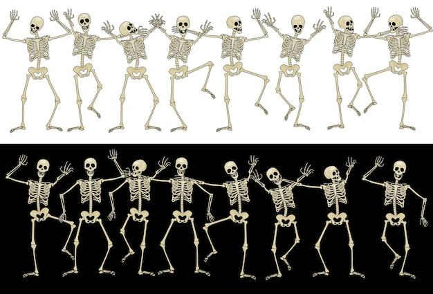 Zestien grappige skeletten