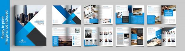 Zestien pagina's zakelijke brochure