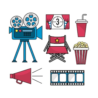 Zet cinematografie scène tot entertainment