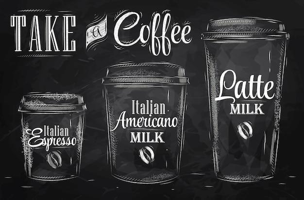 Zet de drinkbeker voor koffie in