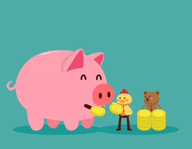 Zet geld in spaarpot