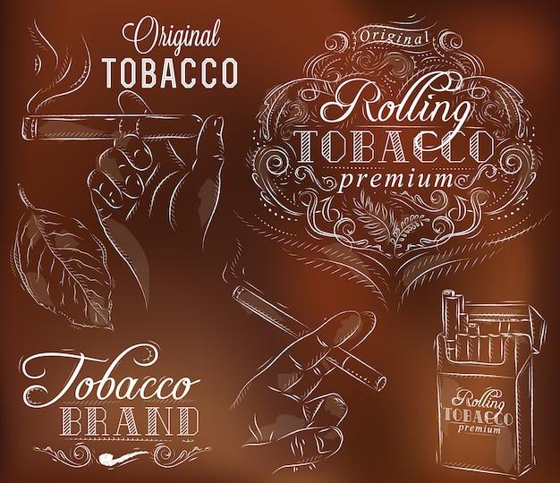 Zet tabak bruin