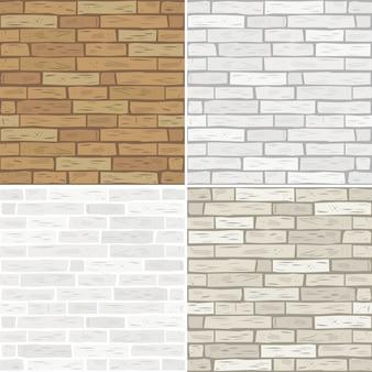 Zet texturen van baksteen
