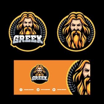 Zeus design concept illustratie vector sjabloon