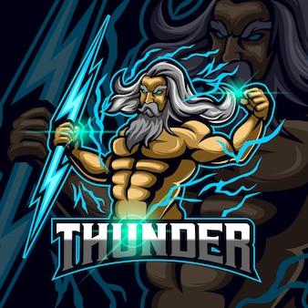 Zeus esport logo sjabloonontwerp vector