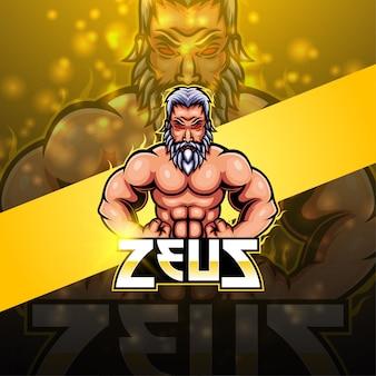 Zeus esport mascotte logo ontwerp