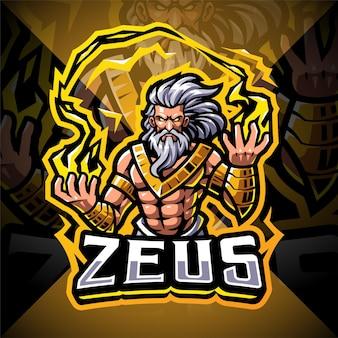 Zeus esport mascotte logo
