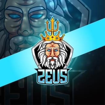 Zeus esport mascotte-logo