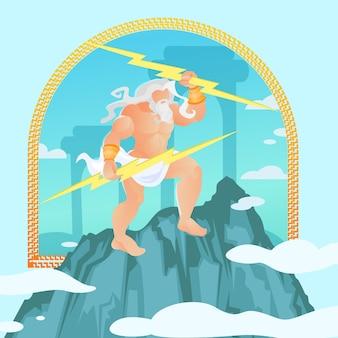 Zeus, jupiter, jove uit klassieke griekse mythologie