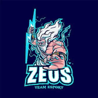 Zeus mascot-logo voor esport en sport