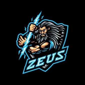 Zeus mascotte logo esport gaming