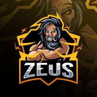 Zeus mascotte logo esport ontwerp