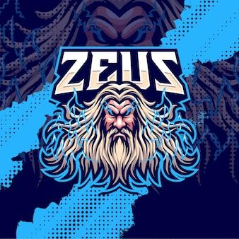 Zeus mascotte logo ontwerp illustratie