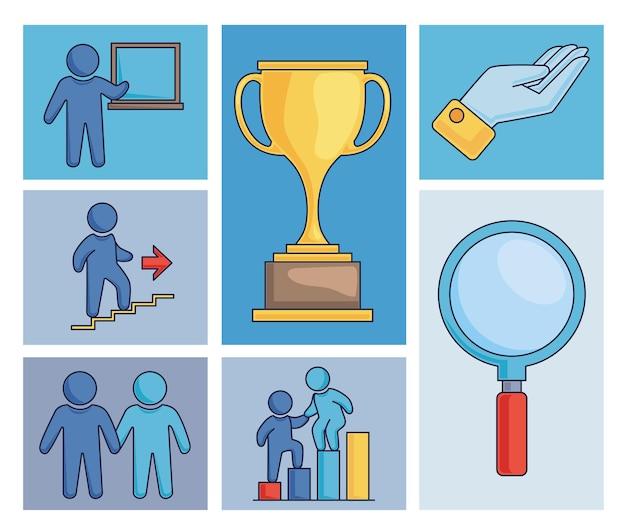 Zeven coaching iconen