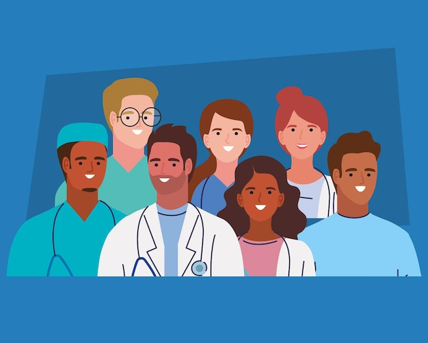Zeven karakters van de medische staf