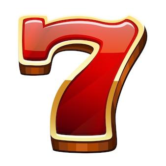 Zeven pictogram geïsoleerd
