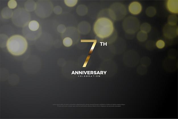 Zevende verjaardag achtergrond