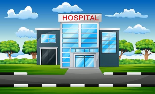 Ziekenhuis gebouw exterieur moderne kliniek weergave