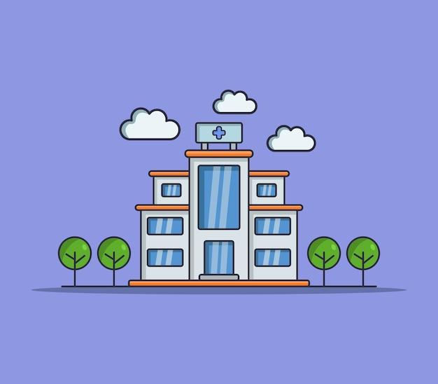 Ziekenhuis geïllustreerd