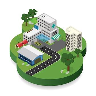 Ziekenhuis isometrisch bouwen