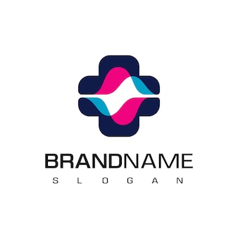 Ziekenhuis logo met spectrumsymbool