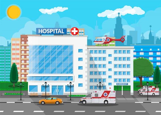Ziekenhuisgebouw, medische pictogram.