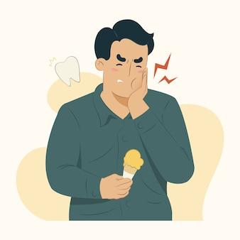 Ziekte concept kiespijn illustratie