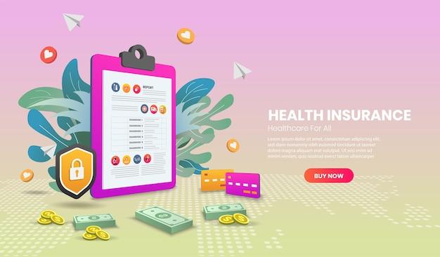 Ziektekostenverzekering concept banner